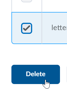 Shows the scheme selected and the Delete button.