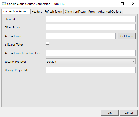 Task Factory Google Cloud OAuth2 Connection Manager