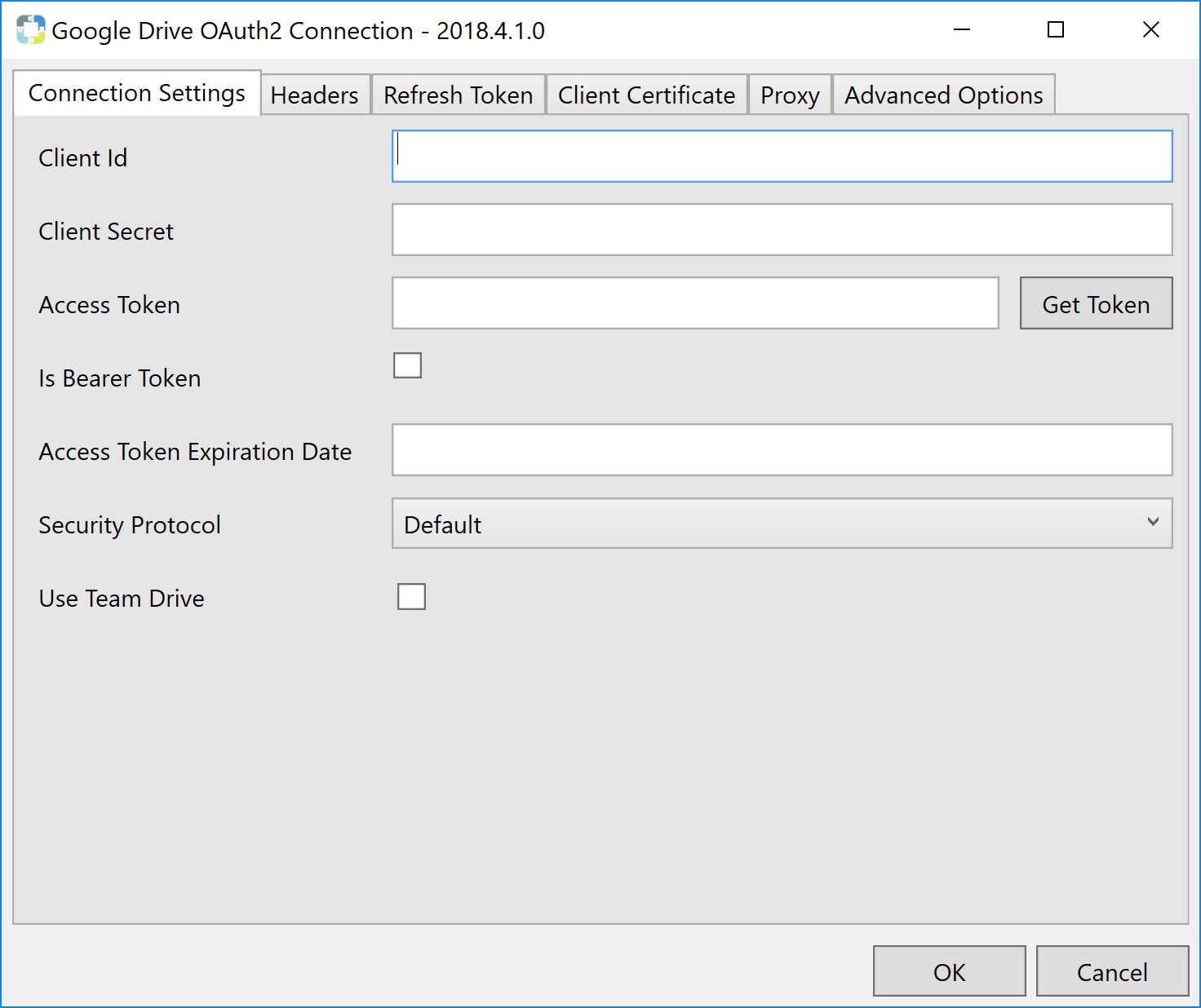 Task Factory Google Drive OAuth2 Connection Manager