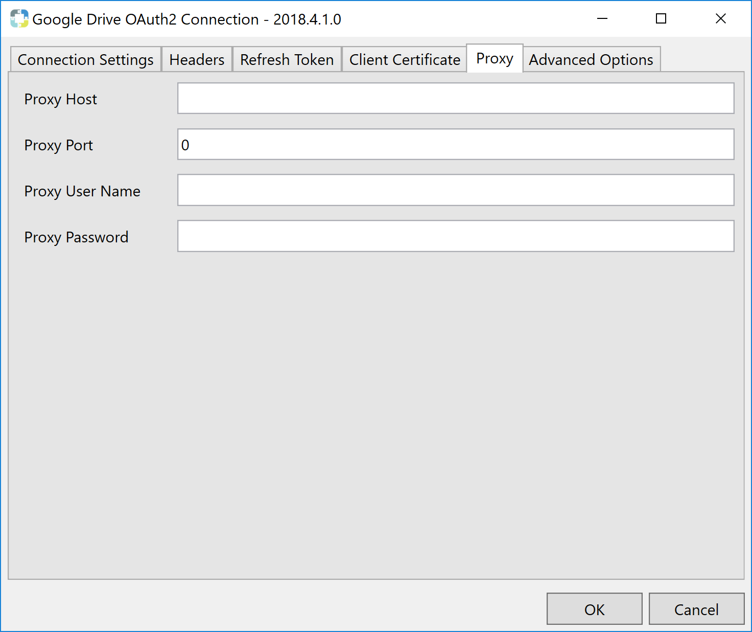 Task Factory Google Drive OAuth2 Connection Manager Proxy