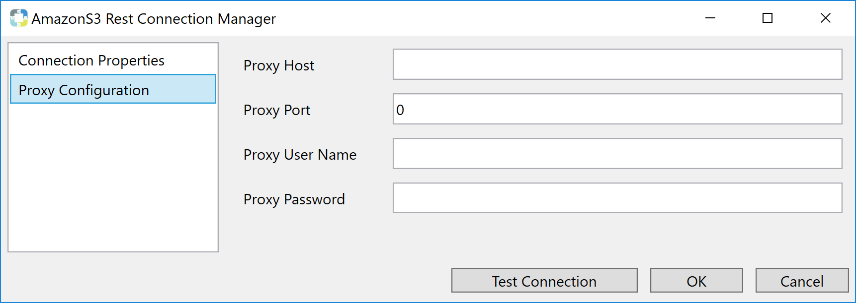 Task Factory Amazon S3 Rest Connection Manager Proxy