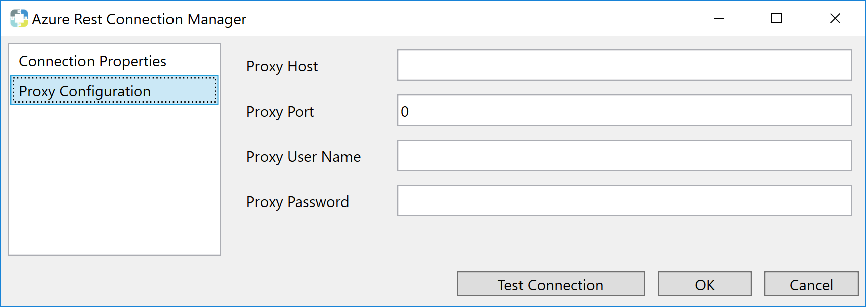 Task Factory Azure Rest Connection Manager Proxy Configuration