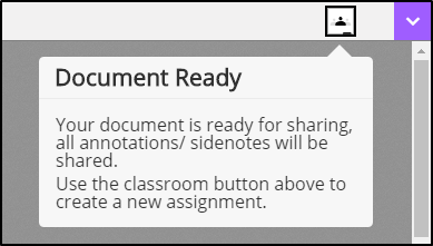 Document ready to be shared with classroom