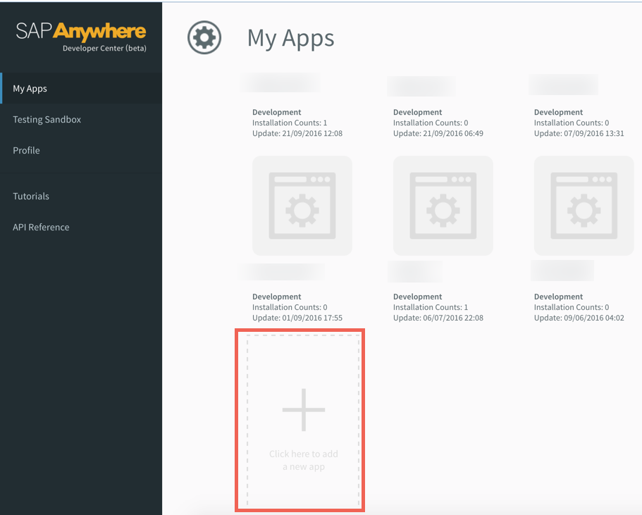 SAP Anywhere Connected App step 1