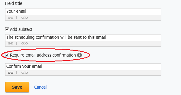 ScheduleOnce email address confirmation