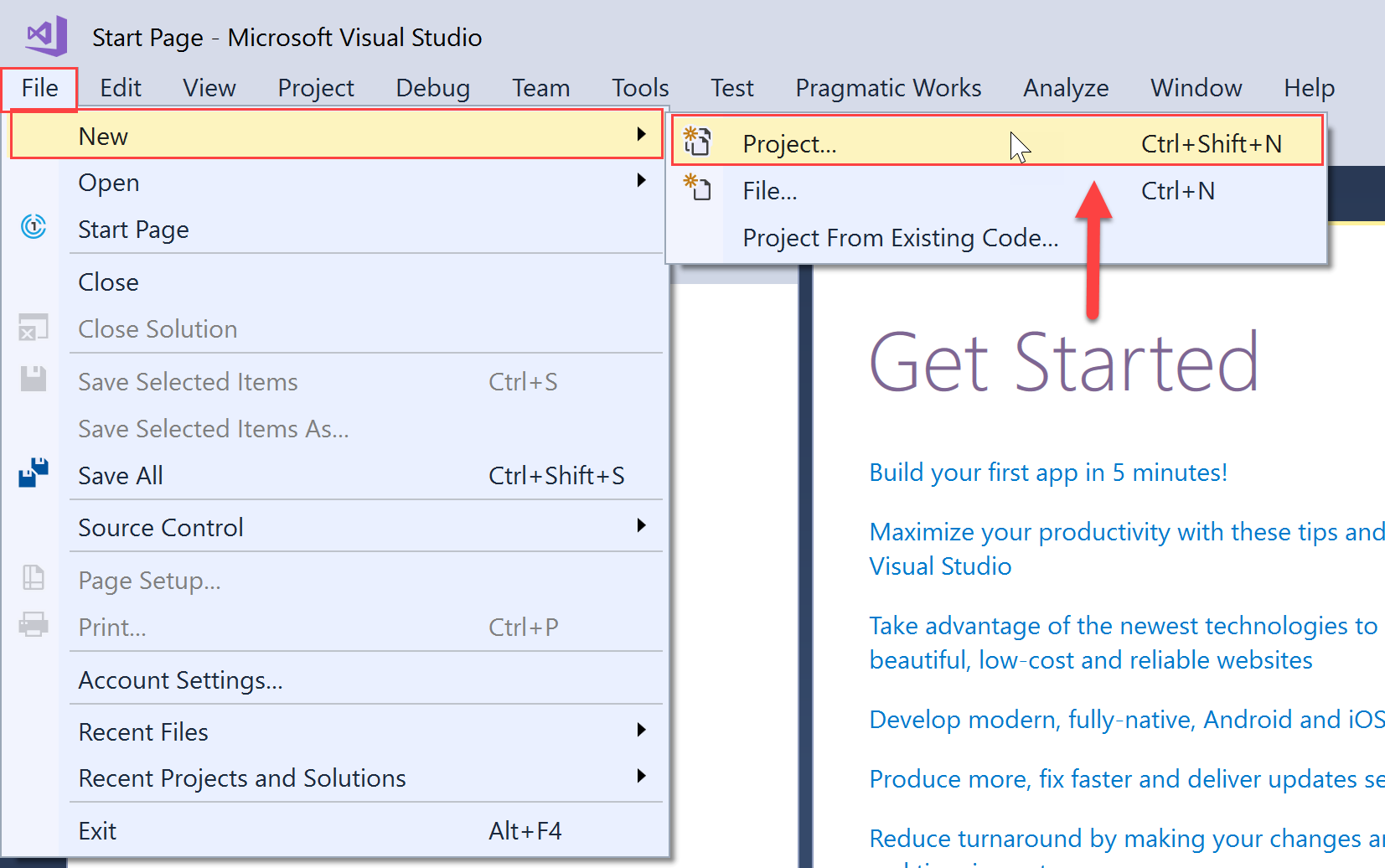 SentryOne Test create a new project in Visual Studio