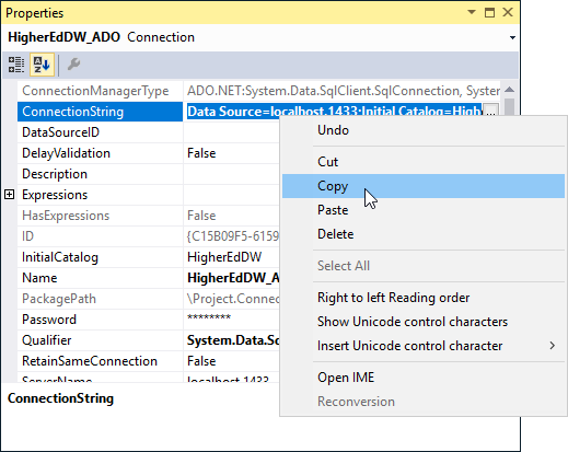 SentryOne Test copy connection string