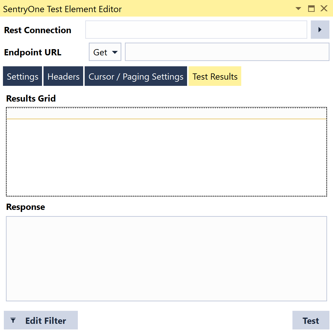 SentryOne Test Execute Rest Query Grid Test Results
