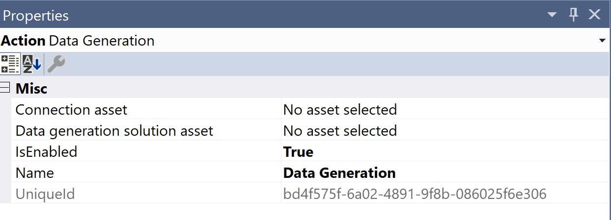 SentryOne Test Data Generation Properties