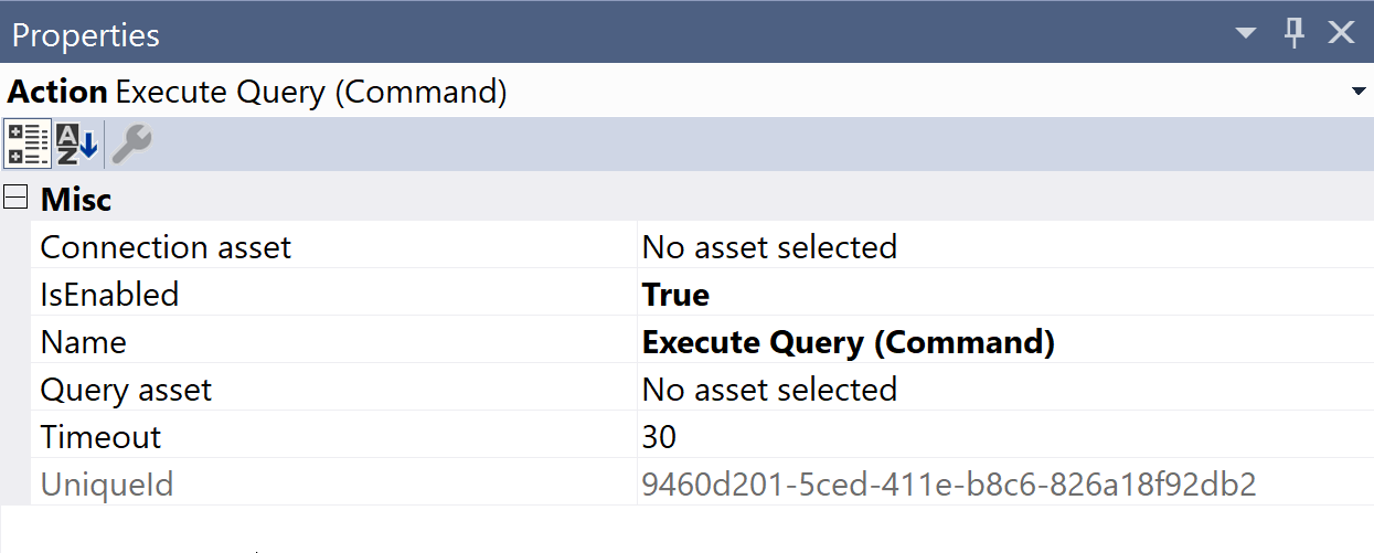 SentryOne Test Execute Query Command Properties