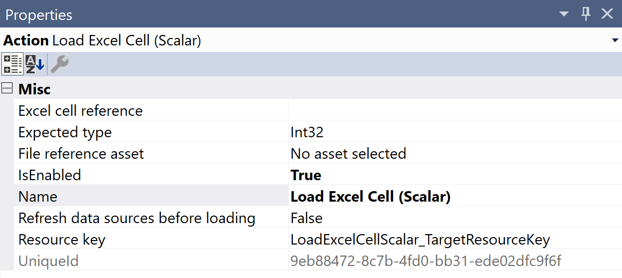 SentryOne Test Load Excel Cell Scalar Properties