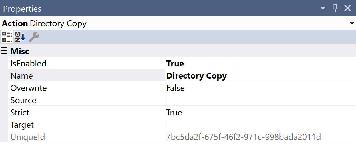 SentryOne Test Directory Copy Properties