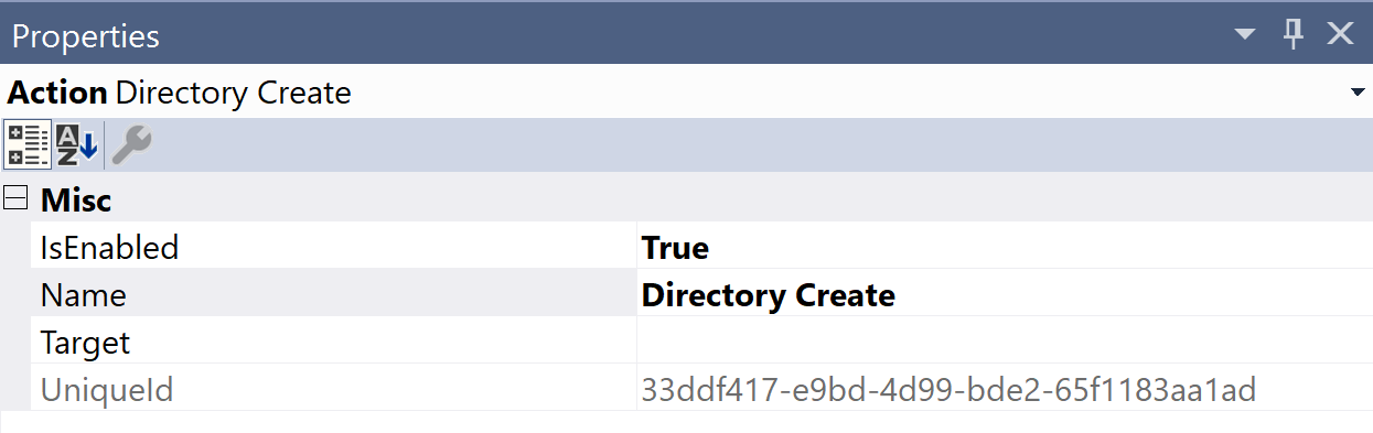 SentryOne Test Directory Create Properties