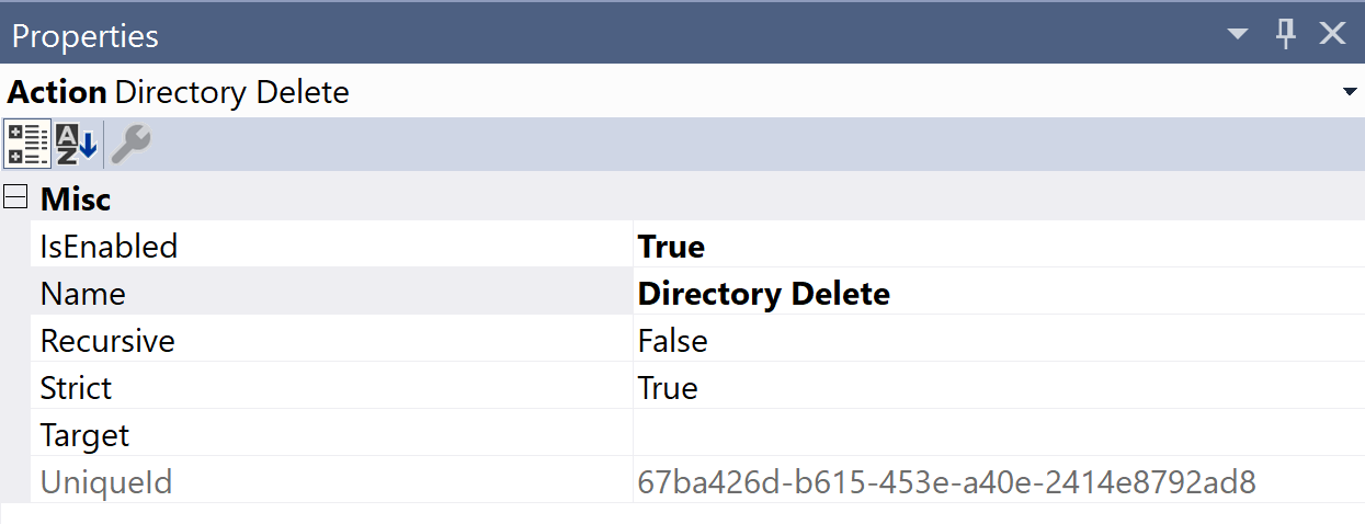 SentryOne Test Directory Delete Properties