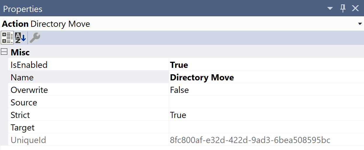 SentryOne Test Directory Move Properties