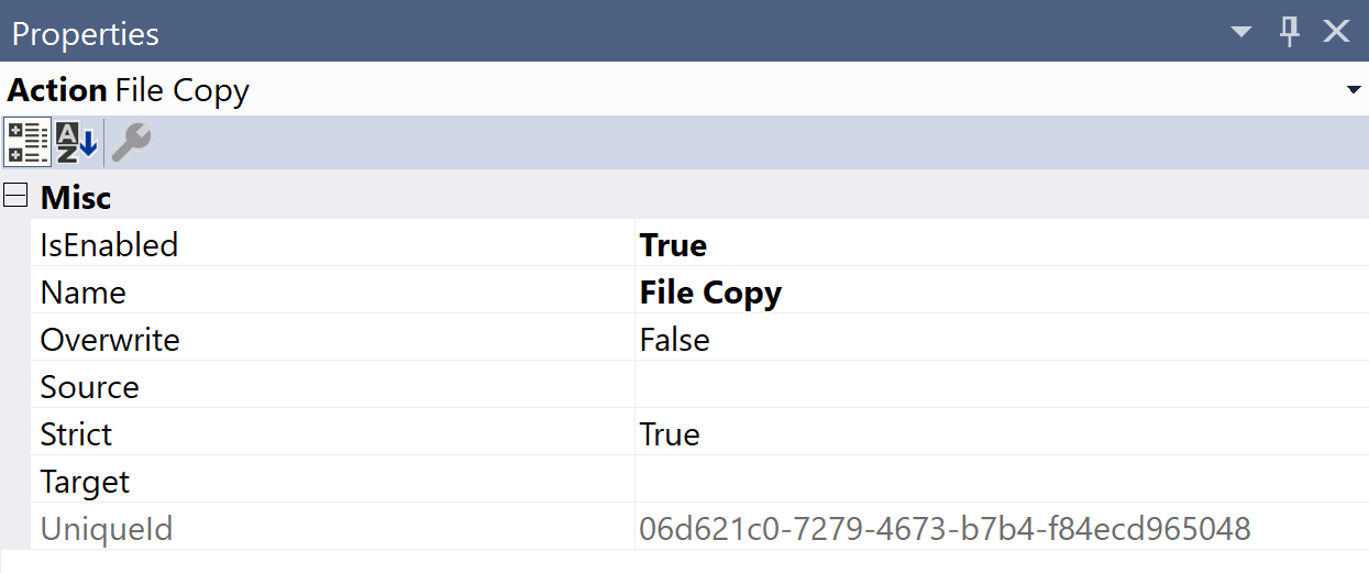 SentryOne Test File Copy Properties
