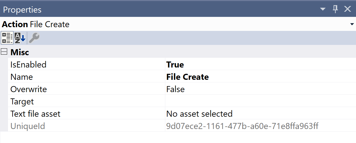 SentryOne Test File Create Properties