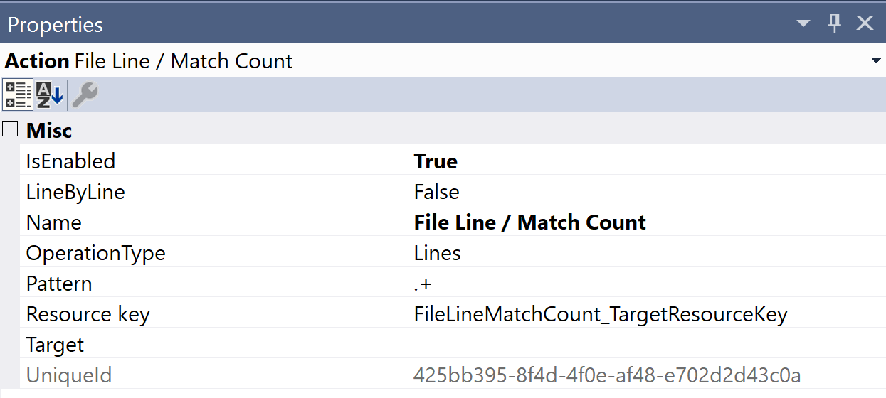 SentryOne Test File Line / Match Count Properties