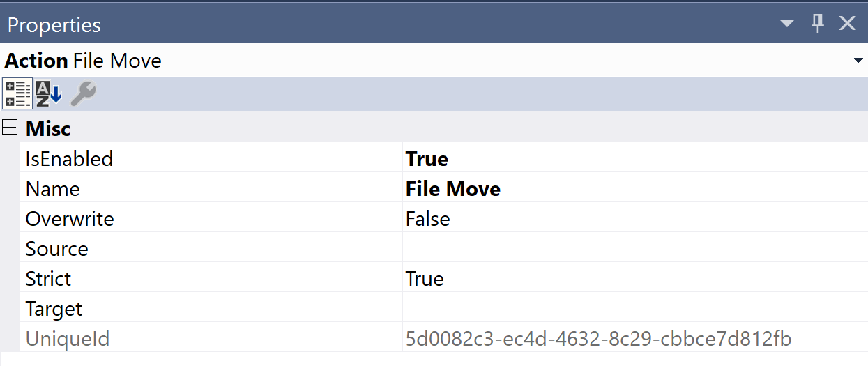 SentryOne Test File Move Properties