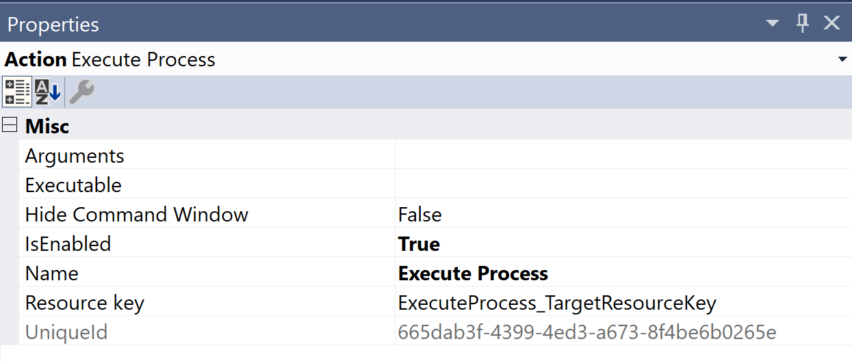 SentryOne Test Execute Process Properties