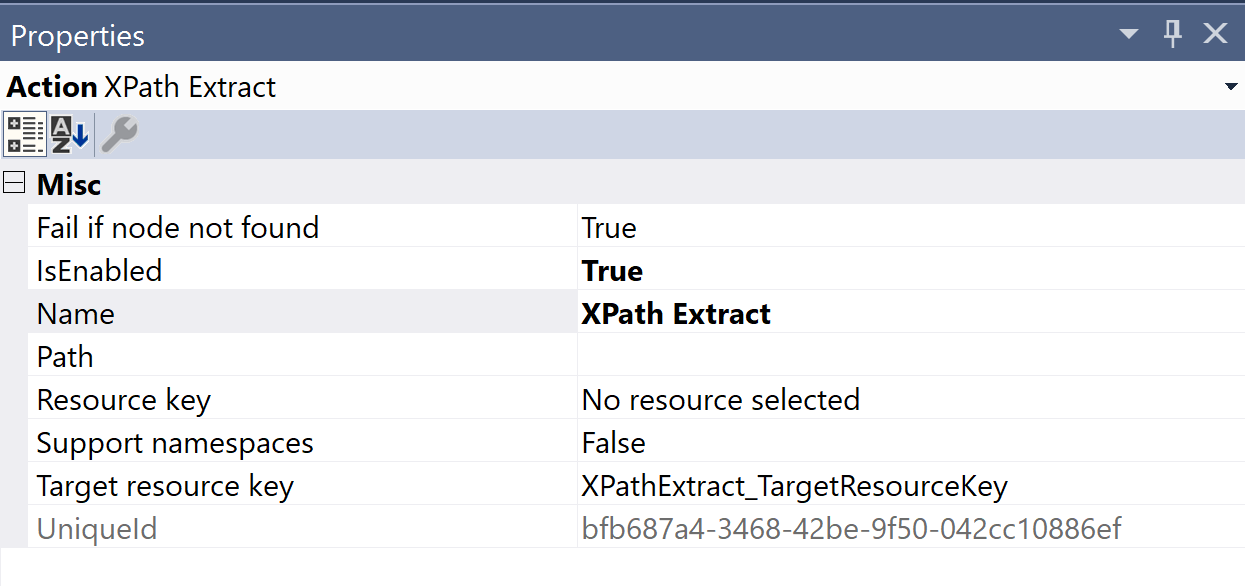 SentryOne Test XPath Extract Properties