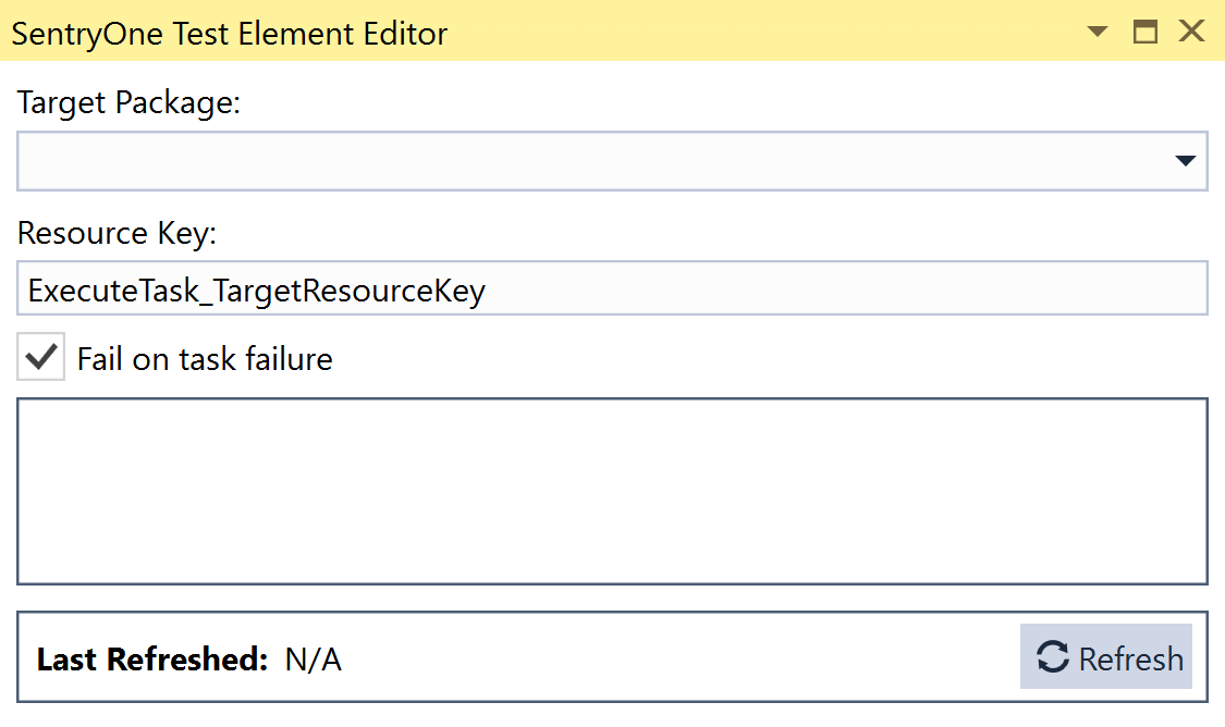 SentryOne Test Execute Task Element Editor