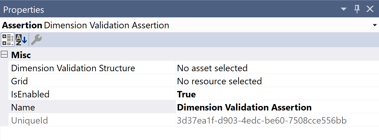 SentryOne Test Dimension Validation Properties