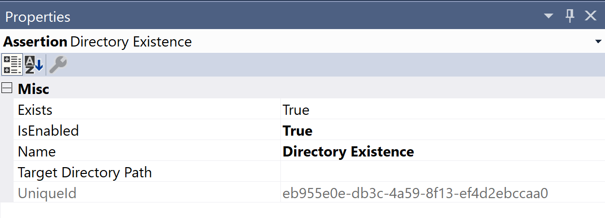 SentryOne Test Directory Existence Properties