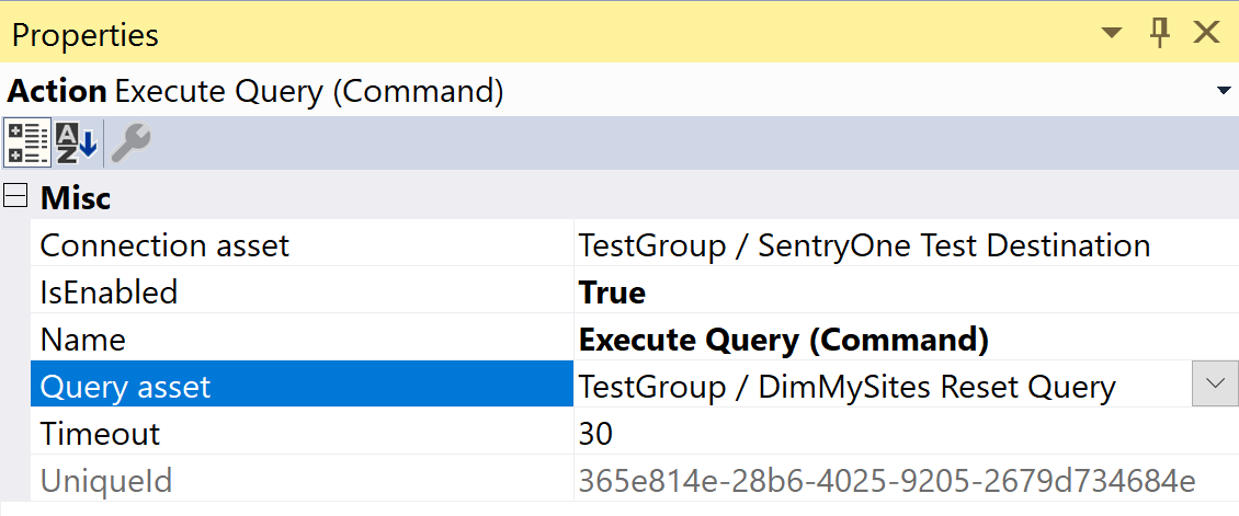 SentryOne Test Execute Query Command