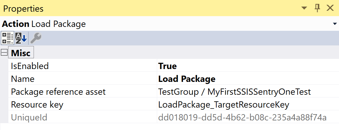 SentryOne Test Load SSIS Package Reference