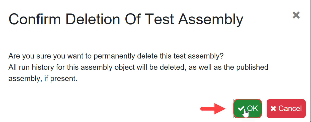 SentryOne Test Trash Confirm Deletion of Test Assembly