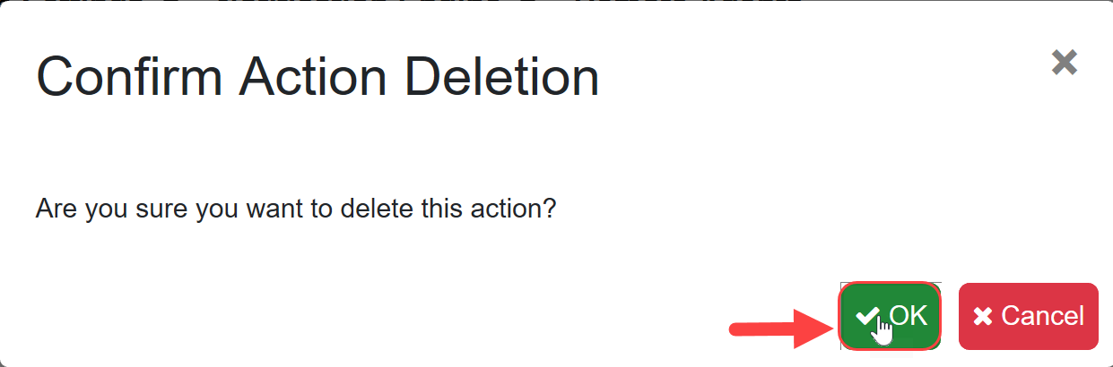 SentryOne Test Confirm Action Deletion window