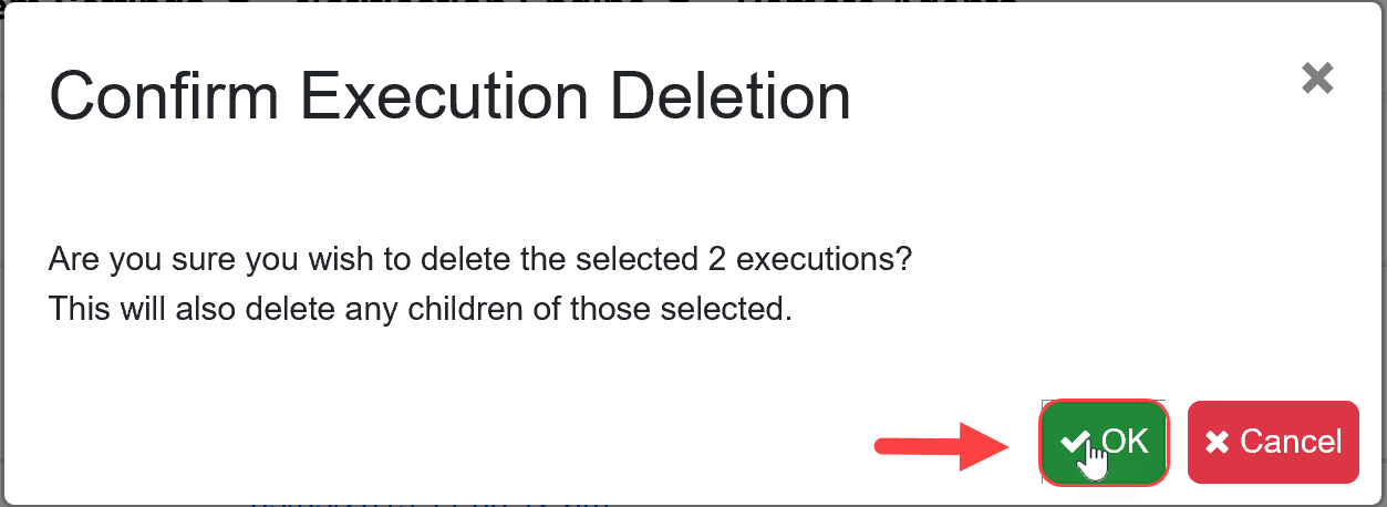 SentryOne Test Confirm Execution Deletion