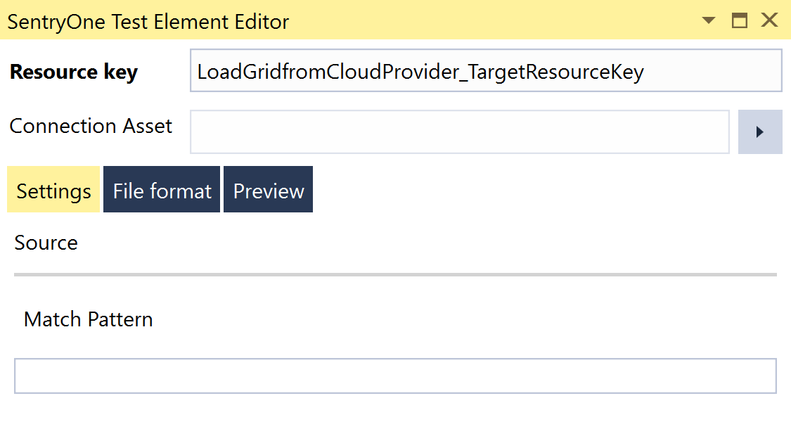 SentryOne Test Load Grid from Cloud Provider Element Editor