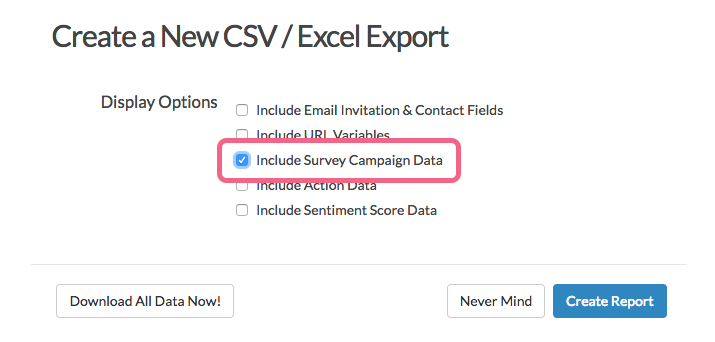 Include Survey Campaign Data