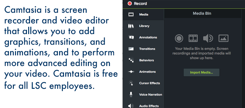 Screen recorder and video editing solution.