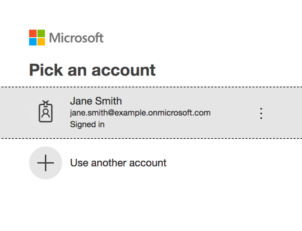 Pick Microsoft Account