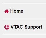 Shows VTAC Support menu item.