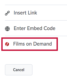 Identifies Films on Demand icon