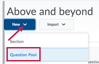 Indicates Question Pool