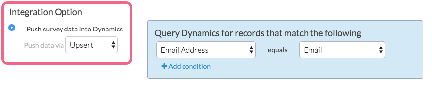 Dynamics Push: Select Account and Object