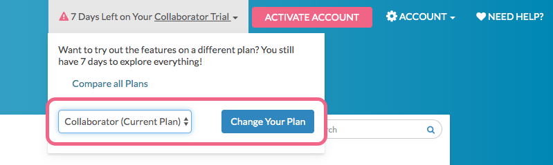 Change Your Trial License