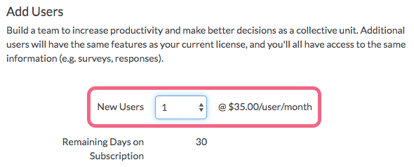 Choose the Number of Users