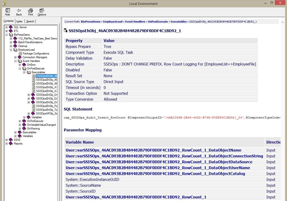 DOC xPress SSIS Package Sample Output Example two