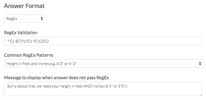 RegEx Validation Example