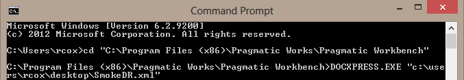 DOC xPress Command Prompt DOCxPress.exe executable