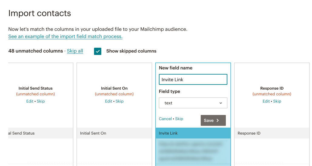 Create Custom Field in MailChimp