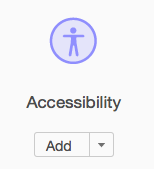Shows Accessibility icon
