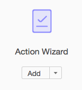 Shows Action Wizard icon