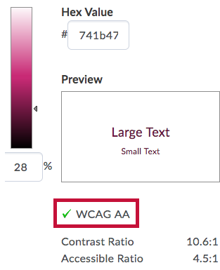 Indicates WCAG AA Color ratio
